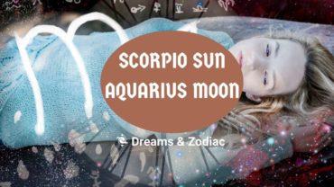 scorpio sun aquarius moon